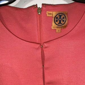Tory Burch Dresses - Tory Burch coral ponte knit dress Size Large